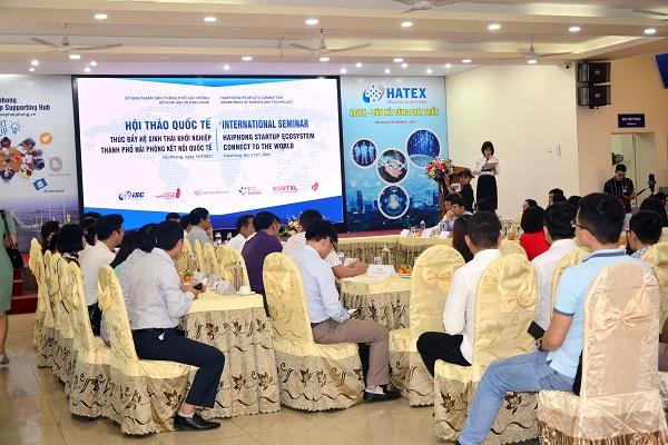 Hội thảo thúc đẩy hệ sinh thái khởi nghiệp thành phố Hải Phòng kết nối quốc tế