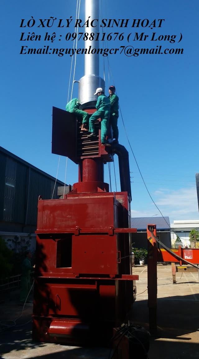 Lò đốt chất thải rắn sinh hoạt công suất 400-600 kg/ giờ