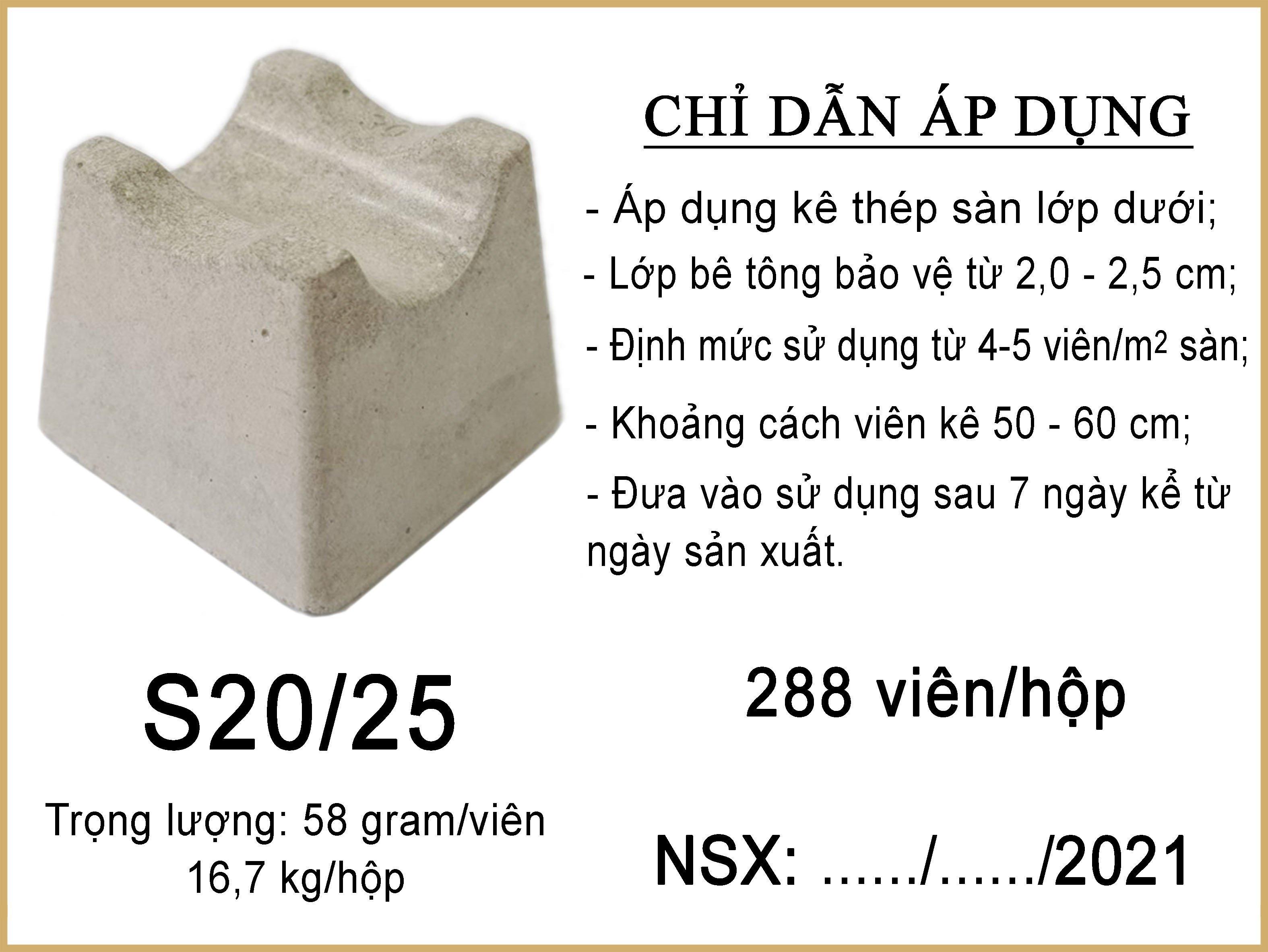 Con kê bê tông mác cao S20-25