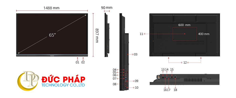 Màn hình tương tác thông minh ViewSonic IFP7550-2