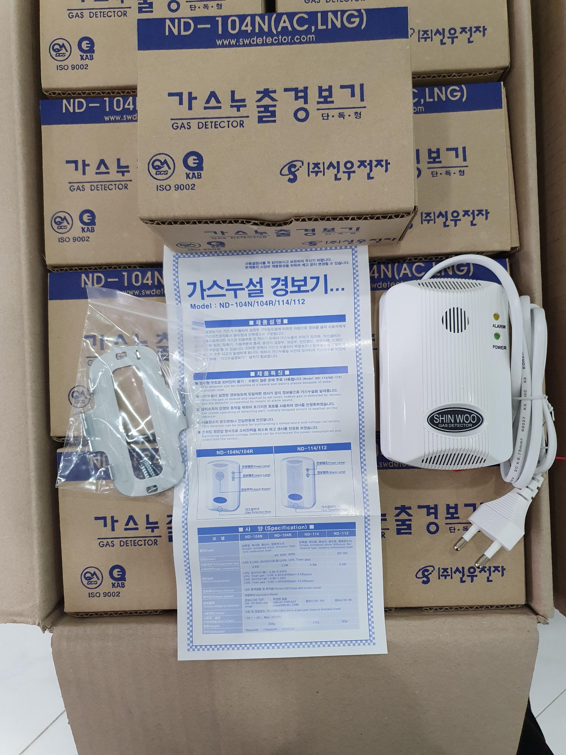 Đầu báo rò khí Gas Shinwoo gas detector ND-104N