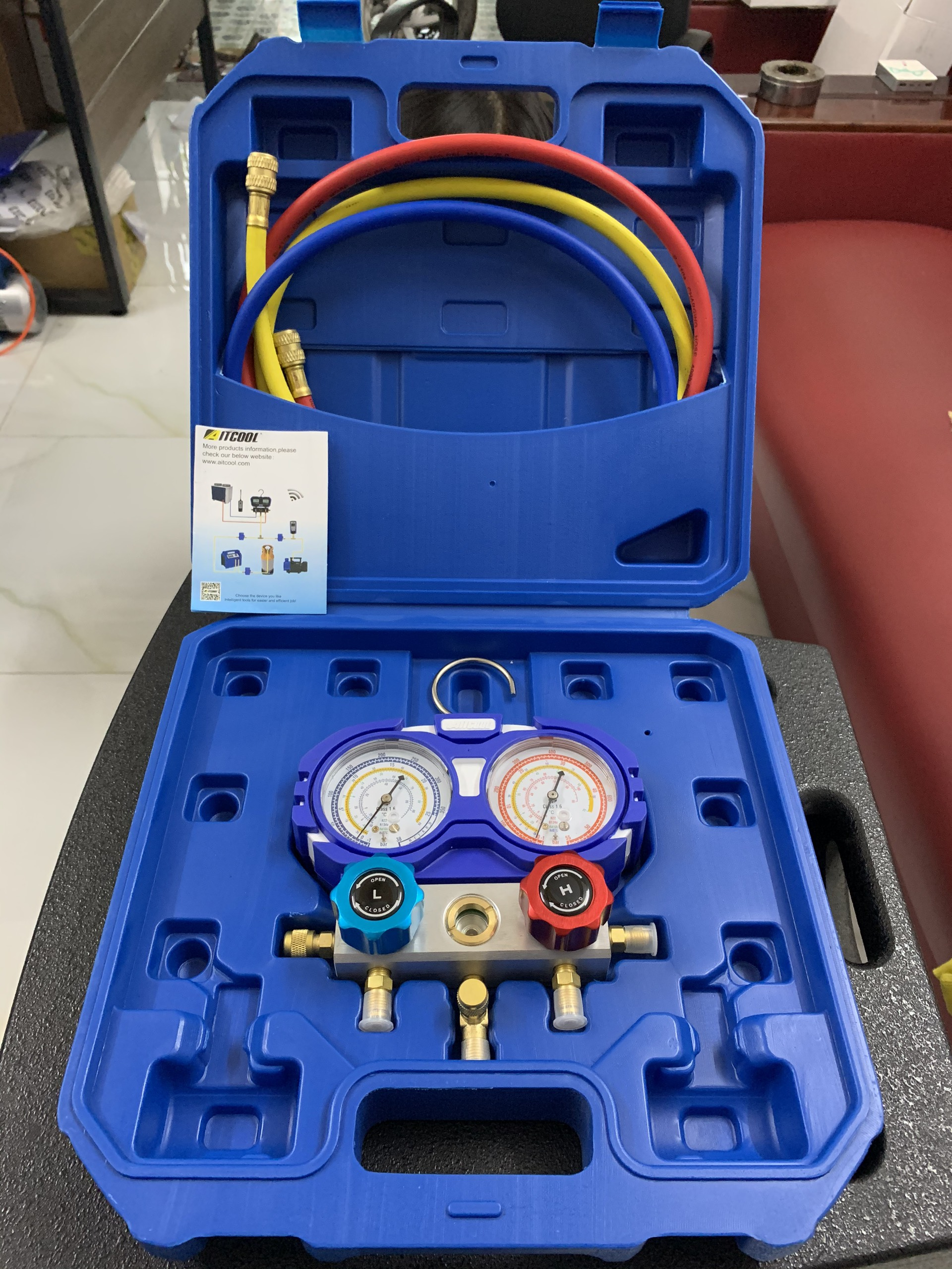 Bộ đồng hồ nạp gas lạnh AITCOOL HMG-2-R32-II