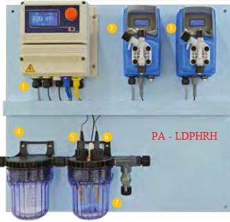 Hệ thông kiểm soát và châm hóa chất pH- Clo cho bể bơi PA-LDPHRH