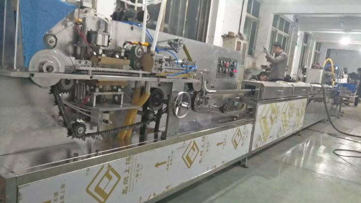 Máy tạo nụ bông tự động một dây có đóng gói và sấy khô