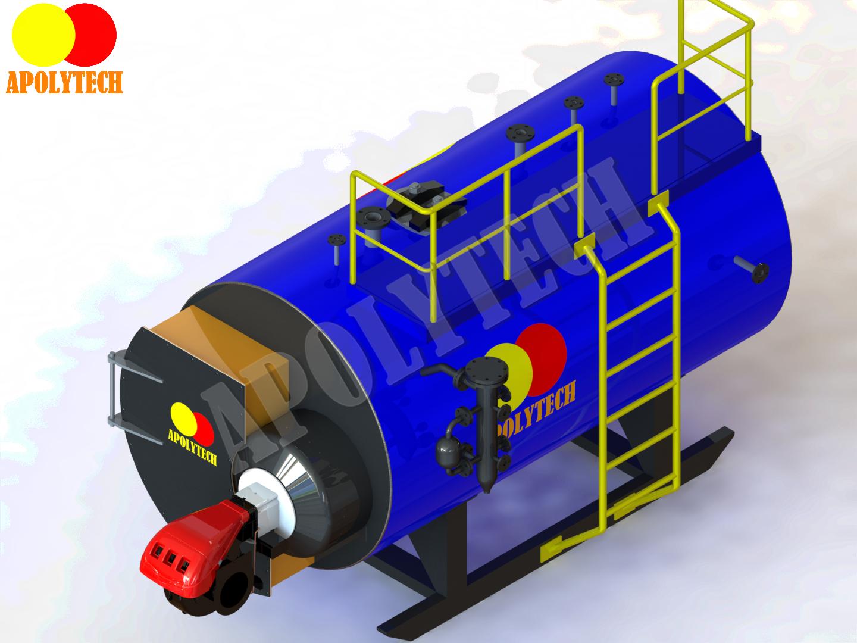 Lò hơi đốt nhiên liệu dầu và gas