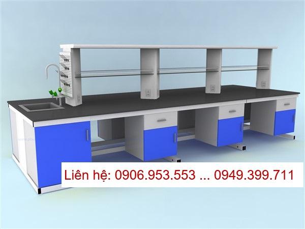 Chuyên tư vấn thiết kế lắp đặt bàn thí nghiệm trung tâm – Central Bench cho phòng thí nghiệm