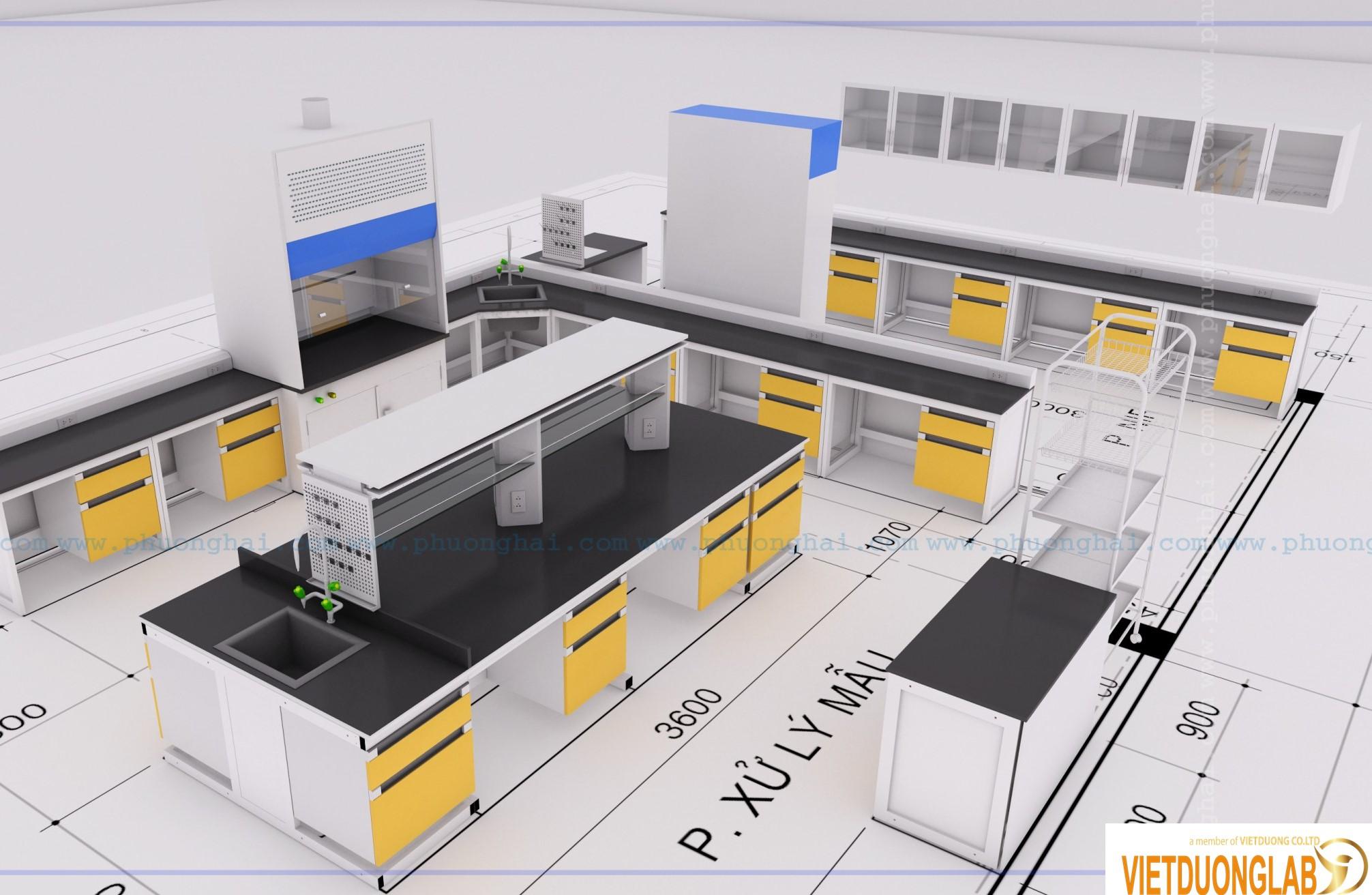 Chuyên tư vấn thiết kế lắp đặt bàn ghế phòng thí nghiệm đạt tiêu chuẩn ISO 17025