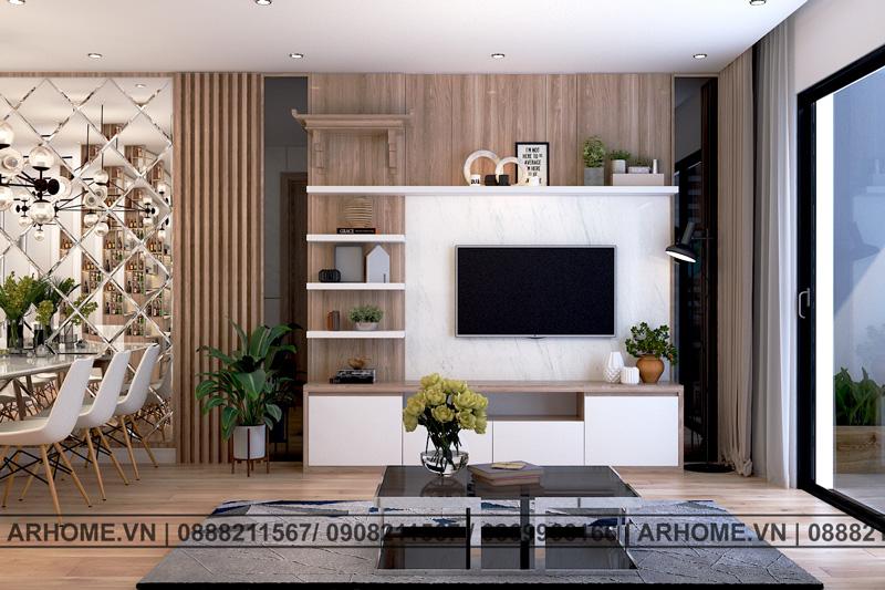 Mẫu thiết kế nội thất căn hộ chung cư Imperial Plaza đẹp ngỡ ngàng