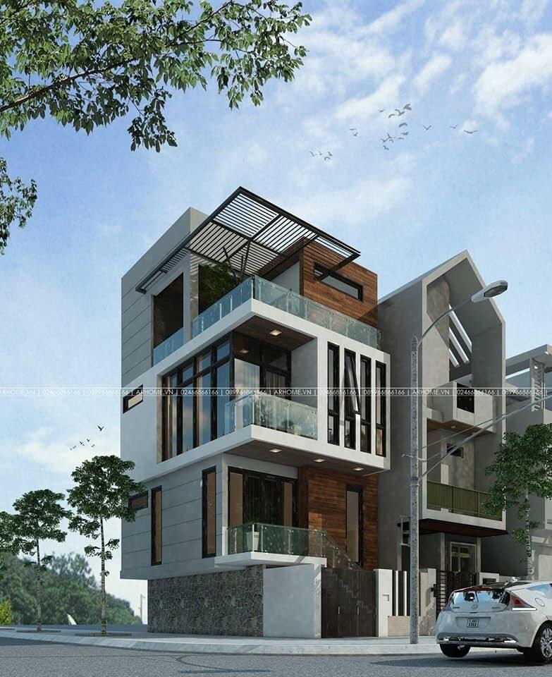 Mẫu thiết kế nhà phố 3 tầng hiện đại 5x16m