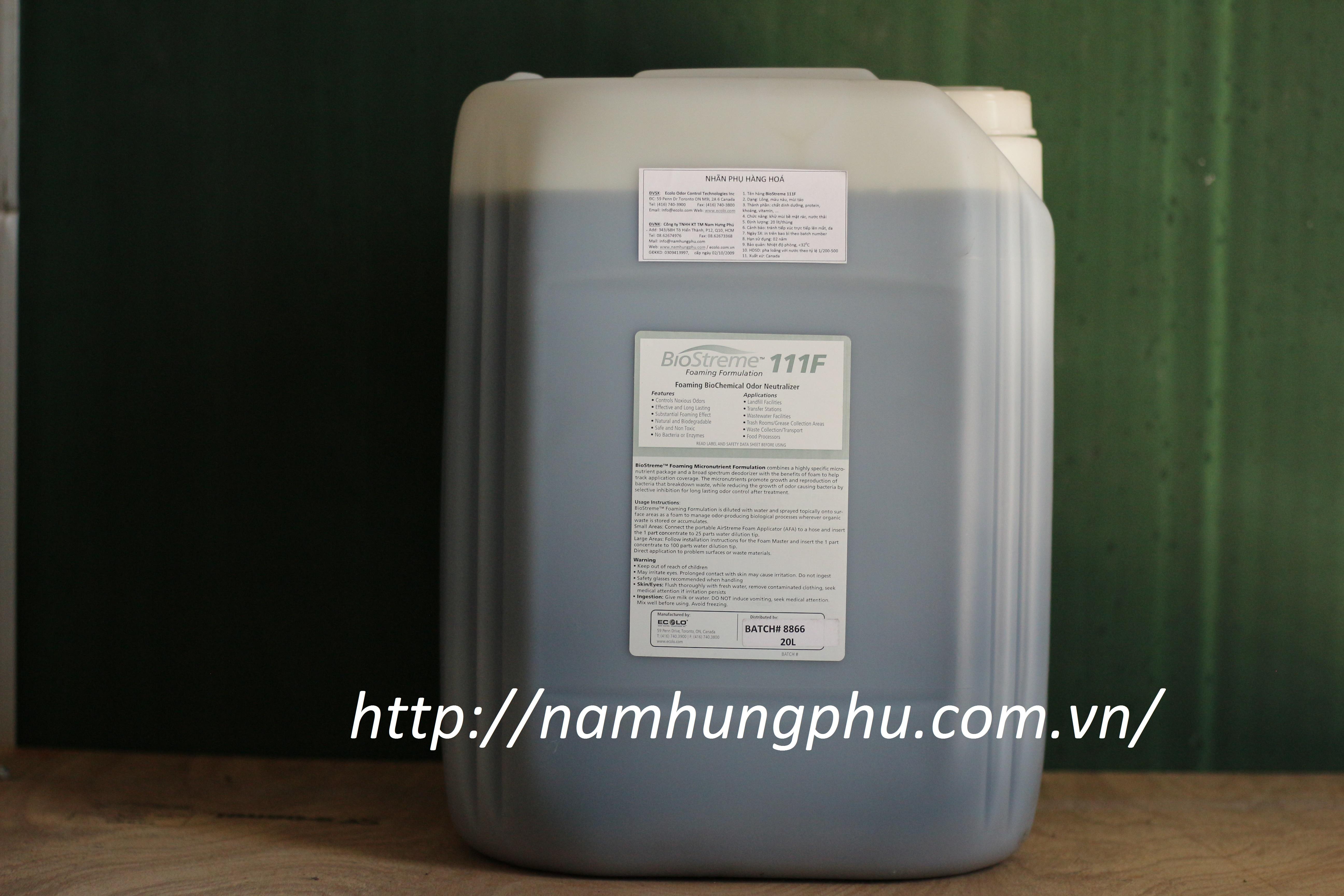 Xử lý mùi hôi nước thải, bùn thải, rác thải Biostreme 111F (ECOLO)