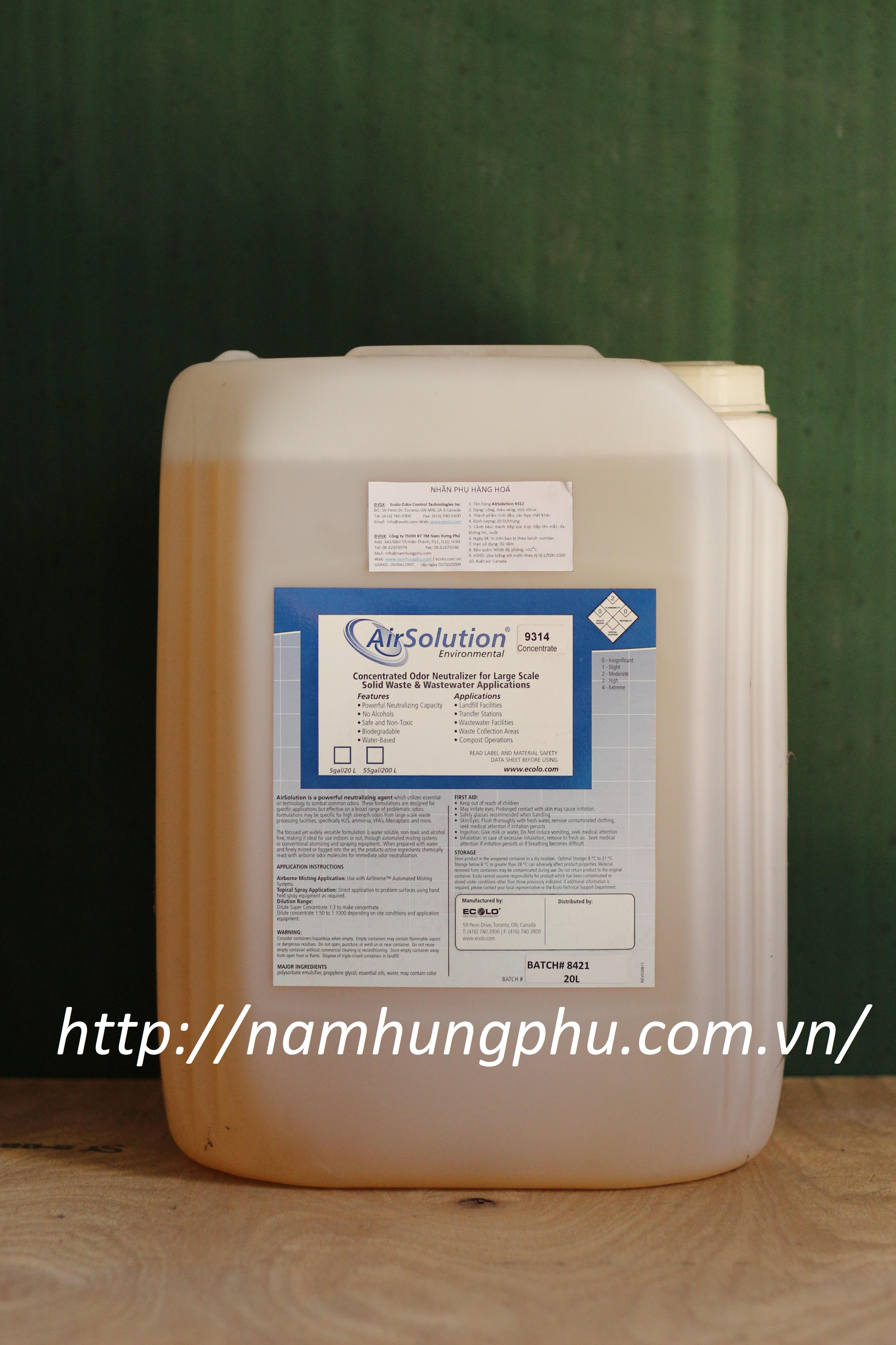 AirSolution9314 - Sản phẩm xử lý mùi hôi trong nhà xưởng và khu vực mở