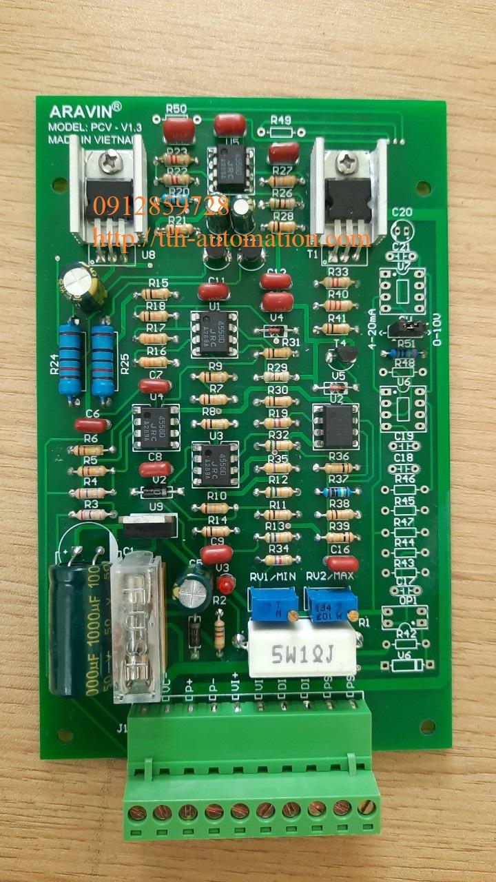 APCV-V1.3-AP Module điều khiển van tỷ lệ Analog + xung, thương hiệu ARAVIN, sản xuất bởi TTH-Automation