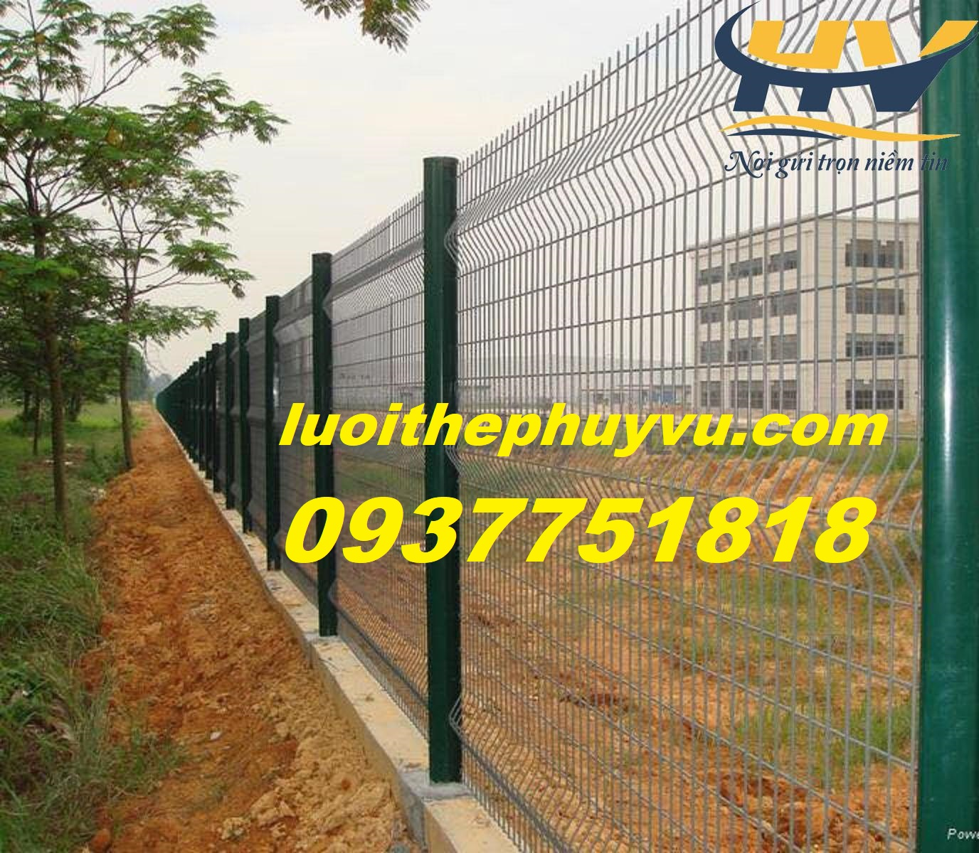 Lưới hàng rào bảo vệ nhà máy