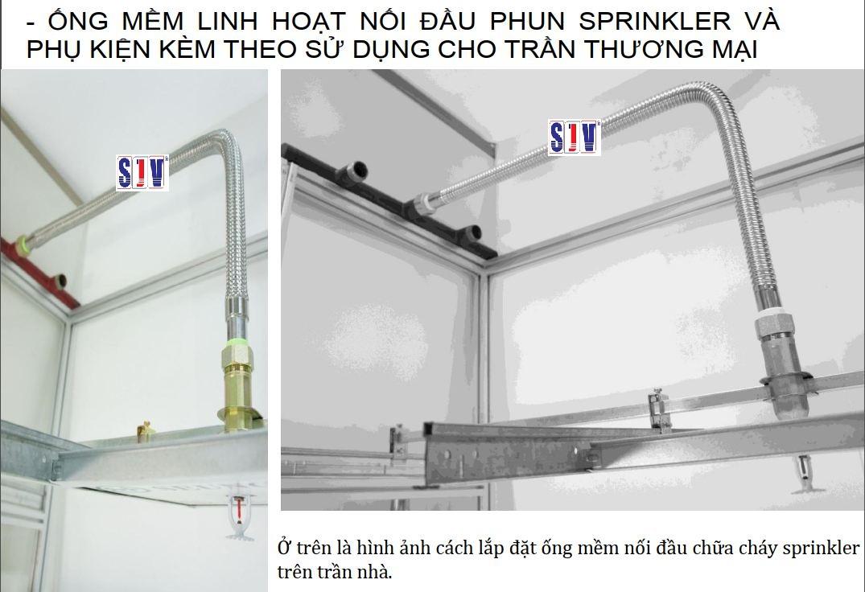 Ống mối nối mềm để gắn đầu phun chữa cháy- Sprinkler