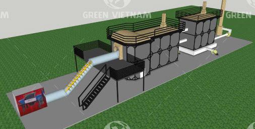 Lò đốt rác thải model GVN