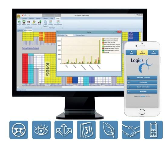 Phần mềm đăng ký và kiểm soát nhà kính Logiqs Dat-A-Control