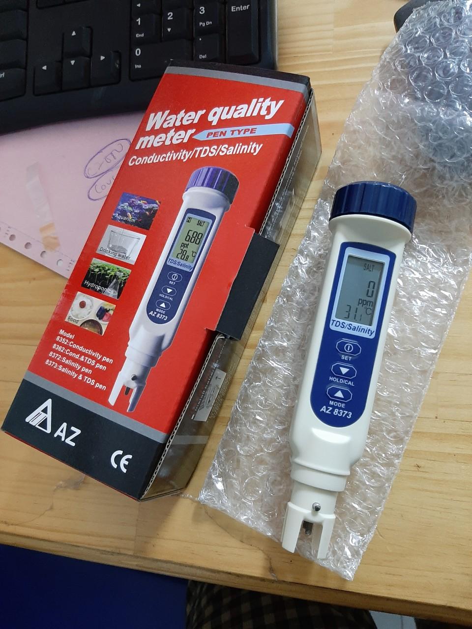Thiết bị đo độ mặn, tổng chất rắn hòa tan (TDS)/ nhiệt độ model AZ8373