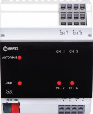Bộ đóng ngắt 4 ngõ ra 16A KNX MSA0416-CM