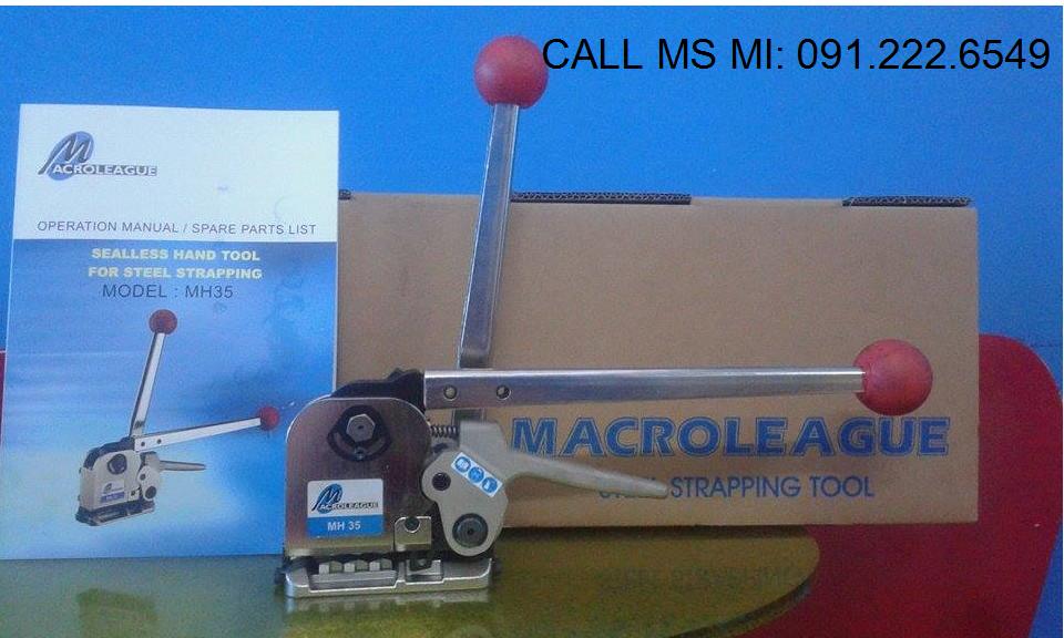 Dụng cụ siết đai thép 3 trong 1, không dùng bọ sắt MACROLEAGUE MH35