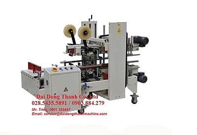 Máy dán băng keo góc thùng tự động WP-5050AC dùng trong dây chuyền sản xuất tự động