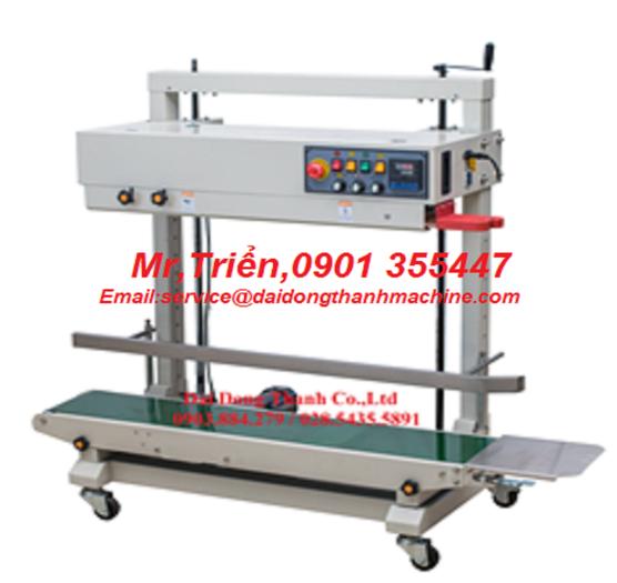 Máy hàn miệng túi băng tải liên tục có in date model WP-1200V giá rẻ