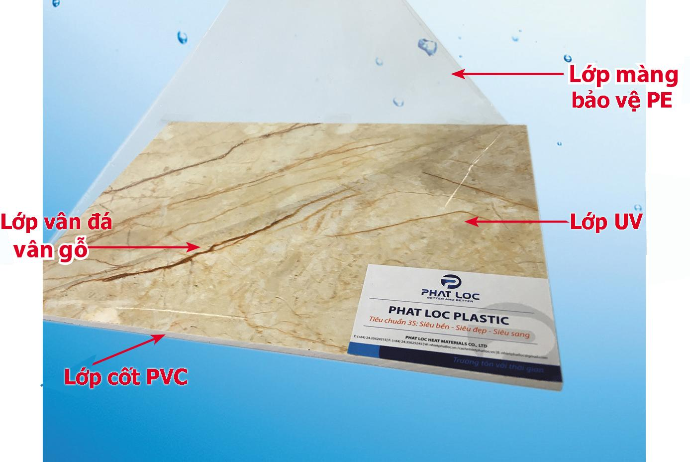 Tấm nhựa PVC vân đá