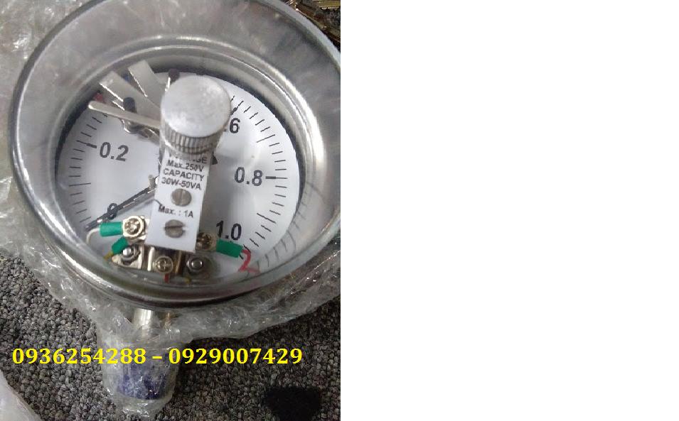 Đồng hồ áp suất 3 kim tiếp điểm điện