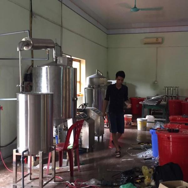 Nồi nấu rượu bằng điện 200 kg/mẻ