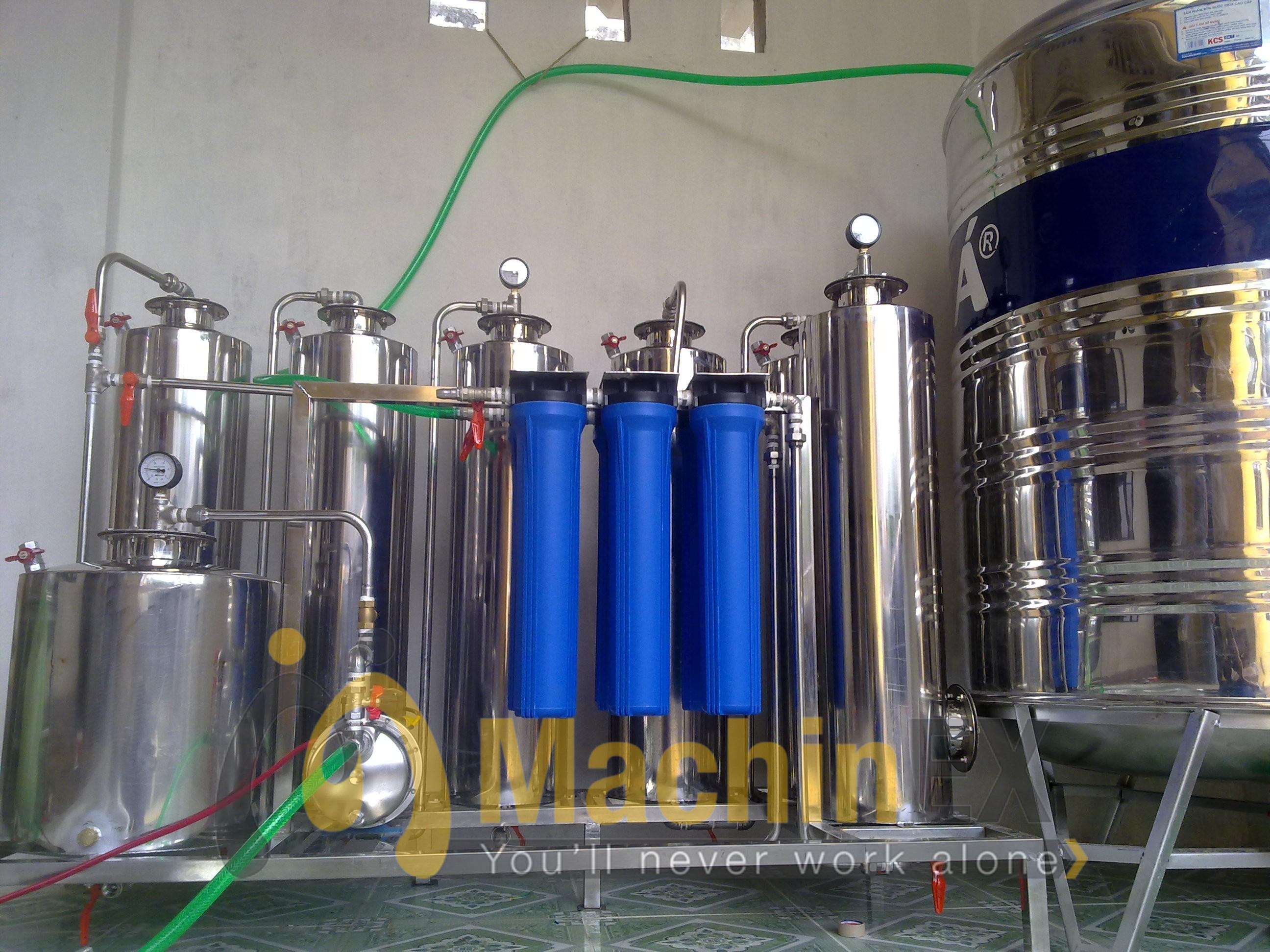 Máy lọc độc tố rượu 200 lít/h Machinex