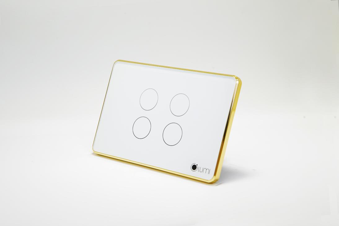 Công tắc điện cảm ứng viền vàng LM-SG