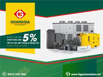 Chiết khấu đến 5% tất cả các đơn hàng tự động hóa tại HGA
