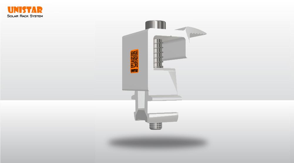 Phụ kiện solar- Bộ kẹp biên 3D
