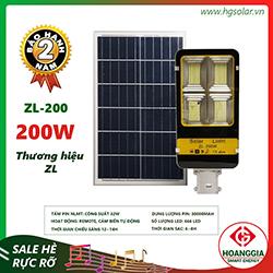 Đèn đường năng lượng mặt trời ZL88-200w