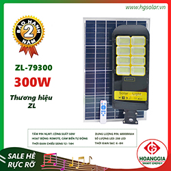 Đèn đường năng lượng mặt trời ZL-7930 300W