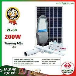 Đèn đường năng lượng mặt trời ZL-88 200W