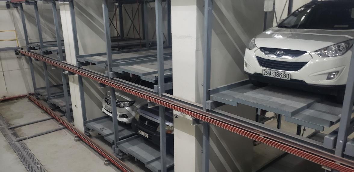 Hệ thống bãi đỗ xe tự động dạng xếp hình (Puzzle Parking)