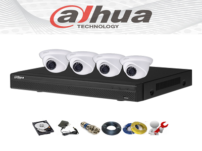 Hệ thống 4 camera Dahua