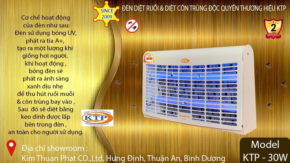 Đèn diệt côn trùng model KTP-30W