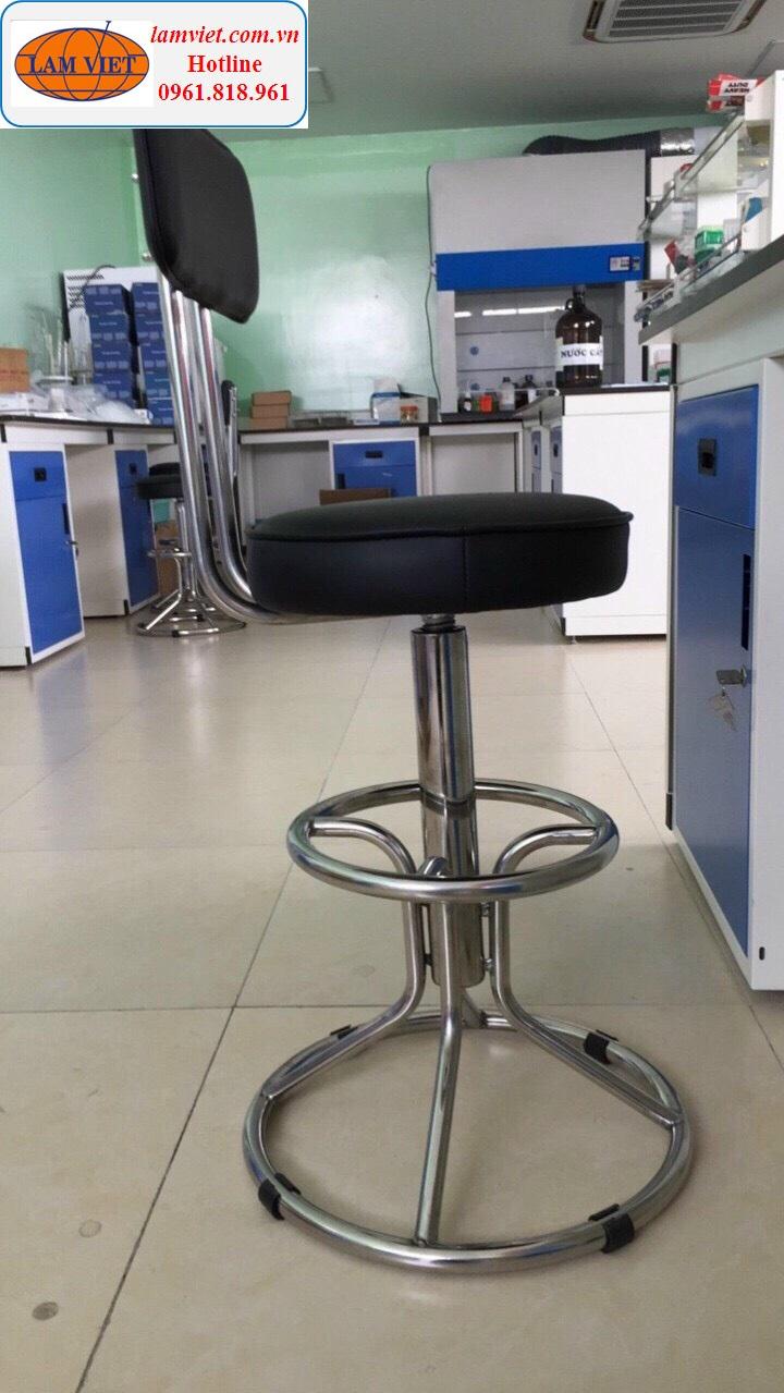 Ghế dùng cho phòng thí nghiệm bọc nệm tựa lưng