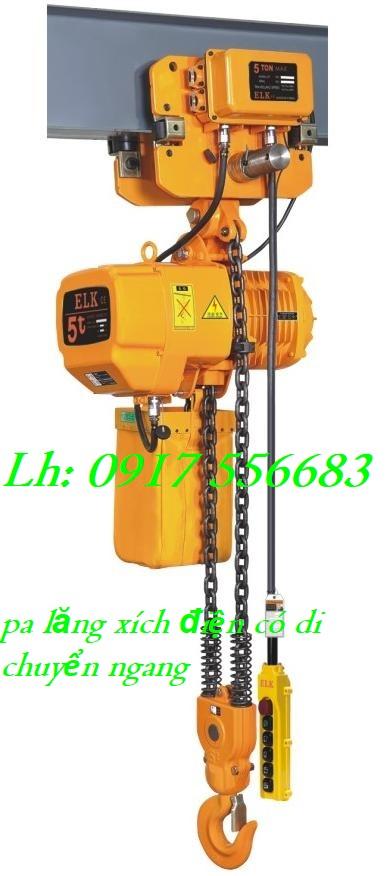 Pa lăng xích điện ELK 5 tấn có di chuyển ngang HKDM0502S