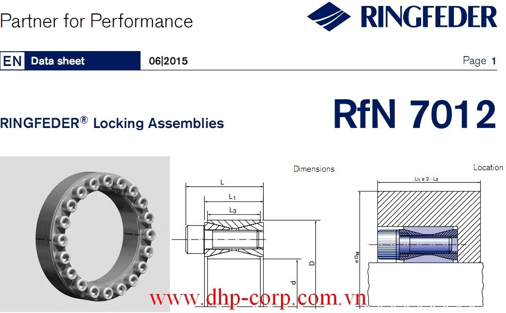 Khớp khóa trục Ringfeder RfN 7012 size 25x50