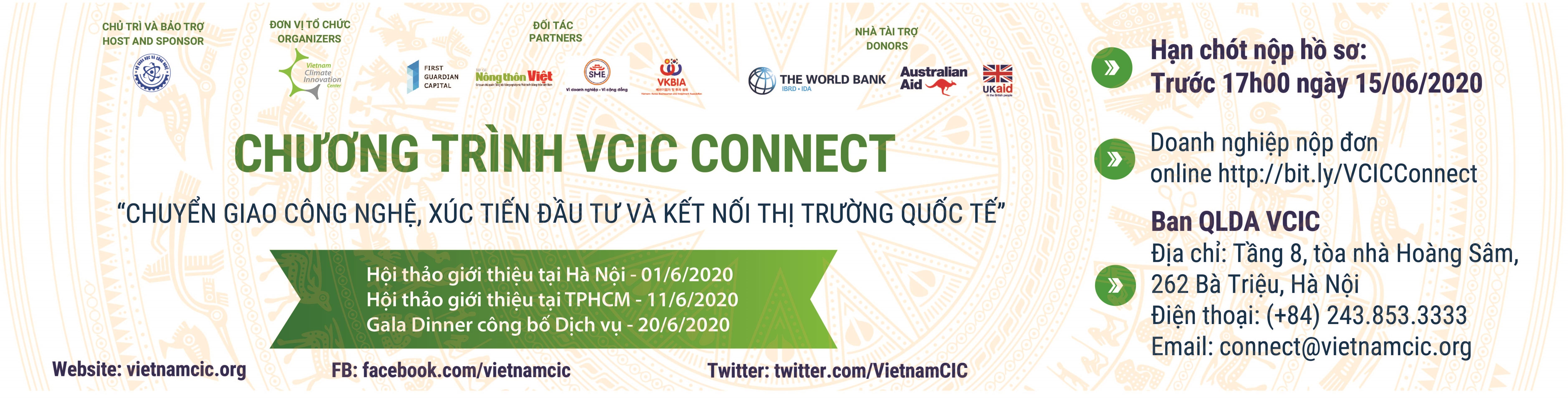"""Chương trình VCIC Connect """"Chuyển giao công nghệ, xúc tiến đầu tư và kết nối thị trường quốc tế"""""""