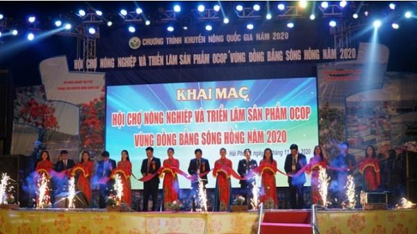 Hải Phòng: Khai mạc Hội chợ Nông nghiệp và triển lãm sản phẩm OCOP vùng Đồng bằng sông Hồng năm 2020