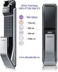Khóa cửa vân tay Samsung SHS-P718 LMK/EN
