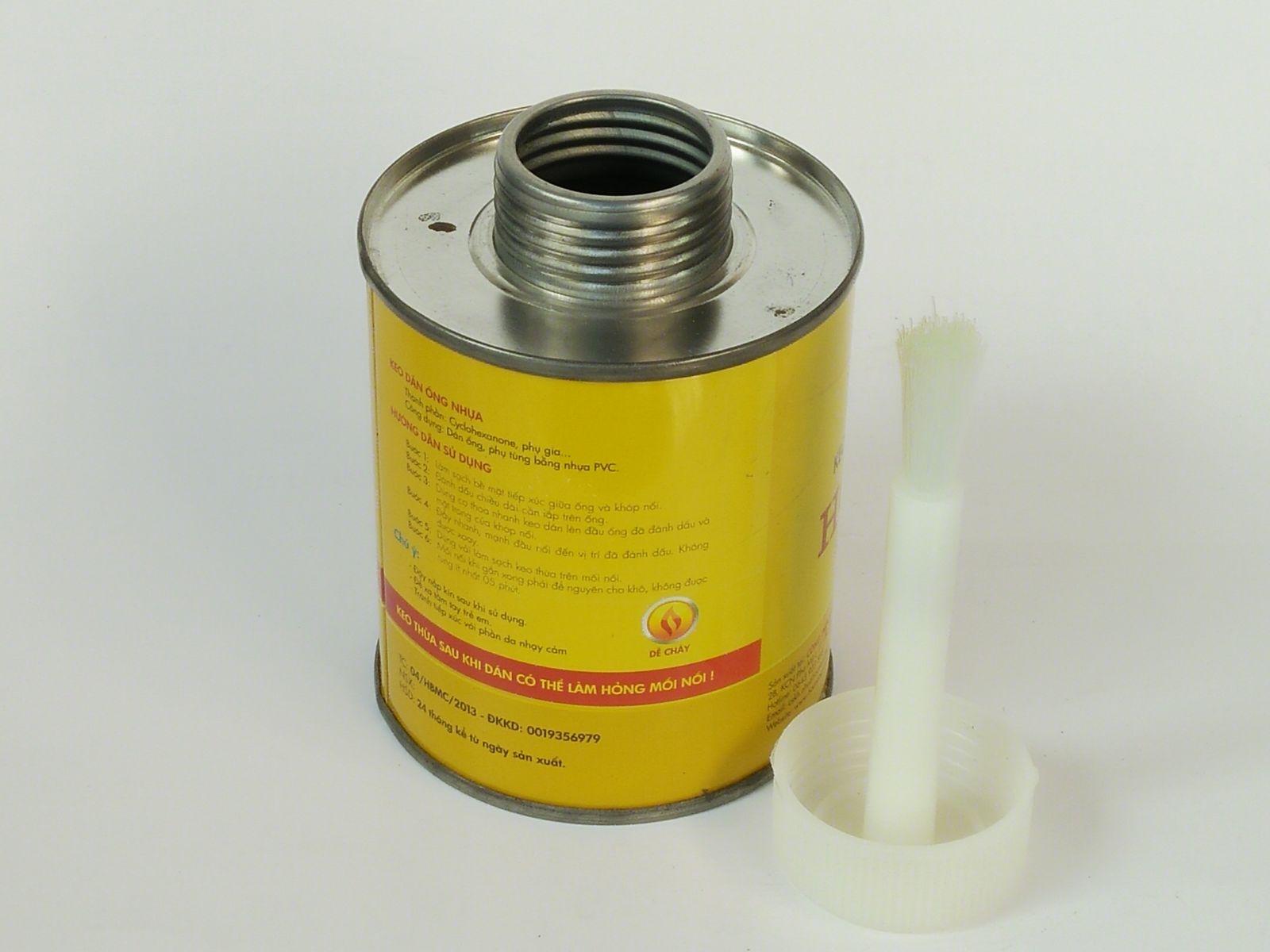 Lon đựng keo cọ nhựa 200gr