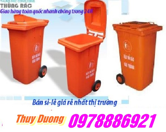 Thùng rác nhưa HDPE 240 lít hàng nhập khẩu giá siêu tốt