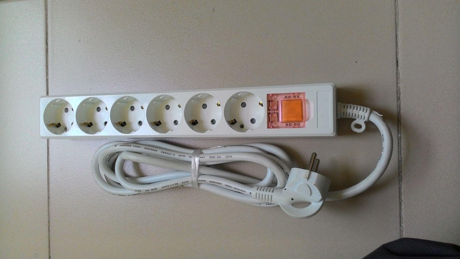 Ổ cắm điện 6 lỗ 1.5m một công tắc chung