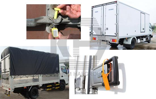 Kẹp chì xe tải, kẹp chì container - Có in tên công ty, đánh số