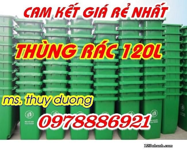 Thùng rác nhựa HDPE 120l giá rẻ nhất thị trường